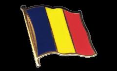 Pin's (épinglette) Drapeau Roumanie - 2 x 2 cm