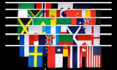 Guirlande Coupe du monde féminin 2019 - 15 x 22 cm