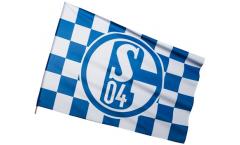 Drapeau FC Schalke 04 Karo sur hampe - 60 x 90 cm