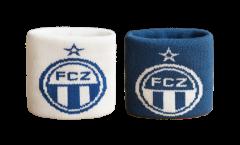 Serre-poignet / bracelet éponge tennis FC Zürich, pack de 2 - 7 x 8 cm