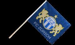 Drapeau FC Zürich sur hampe - 60 x 75 cm