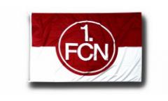 Drapeau 1. FC Nürnberg Logo rouge-blanc - 100 x 150 cm