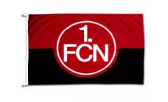 Drapeau 1. FC Nürnberg Logo rouge-noire - 100 x 150 cm