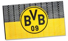Drapeau Borussia Dortmund Écriture - 150 x 250 cm
