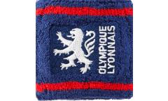 Serre-poignets / bracelets éponge tennis Olympique Lyonnais Lion - 7 x 8 cm