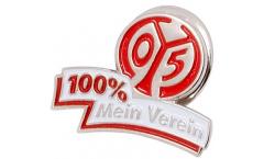 Pin`s (épinglette) 1. FSV Mainz 05 100 % Mein Verein - 1.5 x 2.5 cm