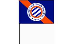 Drapeau HSC Montpellier sur hampe - 40 x 60 cm