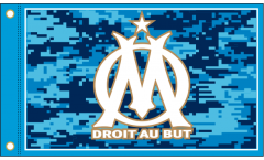 Drapeau Olympique Marseille Logo - 90 x 150 cm