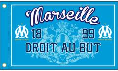 Drapeau Olympique Marseille DROIT AU BUT - 90 x 150 cm