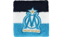 Serre-poignet / bracelet éponge tennis Olympique Marseille Logo, pack de 2 - 8 x 9 cm