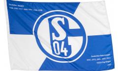 Drapeau FC Schalke 04 Erfolge sur hampe - 60 x 90 cm
