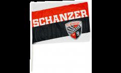 Drapeau FC Ingolstadt 04 Schanzer sur hampe - 60 x 90 cm
