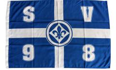 Drapeau SV Darmstadt 98 Croix - 60 x 90 cm