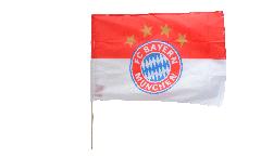 Drapeau FC Bayern München Logo sur hampe - 60 x 90 cm