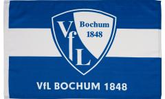 Drapeau VfL Bochum 1848 sur hampe - 60 x 90 cm