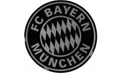 Adhésif autocollant / sticker FC Bayern München Noir - 6 x 6 cm