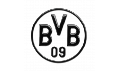 Adhésif autocollant / sticker Borussia Dortmund Noir - 8 x 8 cm