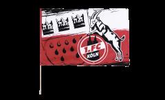 Drapeau 1. FC Köln Wappen sur hampe - 60 x 90 cm