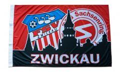 Drapeau FSV Zwickau - 80 x 120 cm