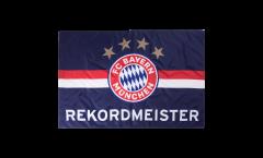 Drapeau FC Bayern München Rekordmeister bleu - 100 x 150 cm