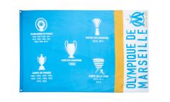 Drapeau Olympique Marseille Palmarès - 90 x 150 cm