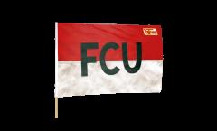 Drapeau 1.FC Union Berlin FCU sur hampe - 60 x 90 cm