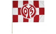 Drapeau 1. FSV Mainz 05 Logo sur hampe - 60 x 90 cm