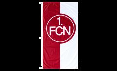 Drapeau 1. FC Nürnberg Logo rouge-blanc - 75 x 150 cm