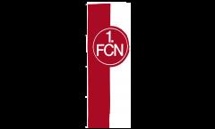 Drapeau 1. FC Nürnberg Logo rouge-blanc - 150 x 400 cm