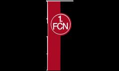 Drapeau 1. FC Nürnberg Logo rouge-noire - 150 x 400 cm