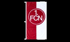 Drapeau 1. FC Nürnberg Logo rouge-blanc - 120 x 250 cm