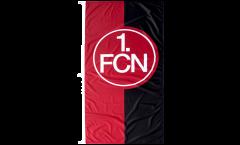 Drapeau 1. FC Nürnberg Logo rouge-noire - 120 x 250 cm