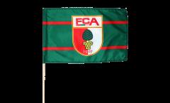 Drapeau FC Augsburg sur hampe - 60 x 80 cm