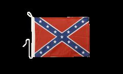 Drapeau pour bateau confédéré USA Sudiste - 30 x 40 cm