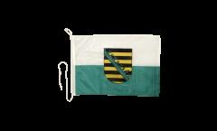 Drapeau pour bateau Allemagne Saxe - 30 x 40 cm