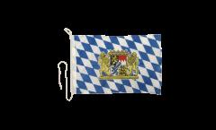 Drapeau pour bateau Allemagne Bavière avec Lion - 30 x 40 cm