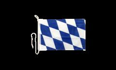 Drapeau pour bateau Allemagne Bavière sans blason - 30 x 40 cm