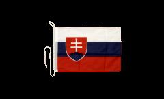 Drapeau pour bateau Slovaquie - 30 x 40 cm
