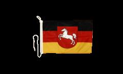 Drapeau pour bateau Allemagne Basse-Saxe - 30 x 40 cm