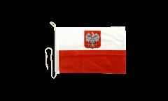 Drapeau pour bateau Pologne avec aigle - 30 x 40 cm