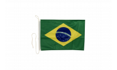 Drapeau pour bateau Brésil - 30 x 40 cm