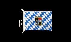 Drapeau pour bateau Allemagne Bavière avec blason - 30 x 40 cm