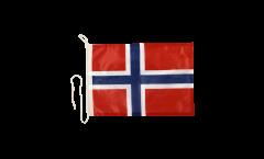 Drapeau pour bateau Norvège - 30 x 40 cm
