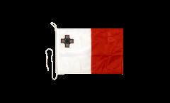 Drapeau pour bateau Malte - 30 x 40 cm