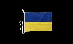 Drapeau pour bateau Ukraine - 30 x 40 cm