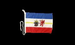 Drapeau pour bateau Allemagne Mecklembourg - 30 x 40 cm