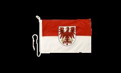 Drapeau pour bateau Allemagne Brandebourg - 30 x 40 cm
