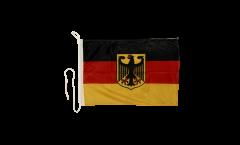 Drapeau pour bateau Allemagne avec aigle - 30 x 40 cm