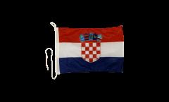 Drapeau pour bateau Croatie - 30 x 40 cm