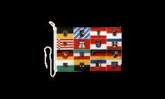Drapeau pour bateau Allemagne 16 Regions - 30 x 40 cm